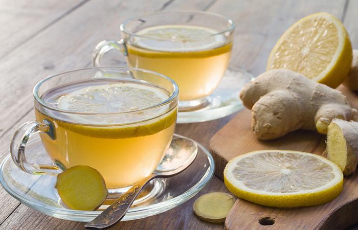 лимон, имбирь и чай