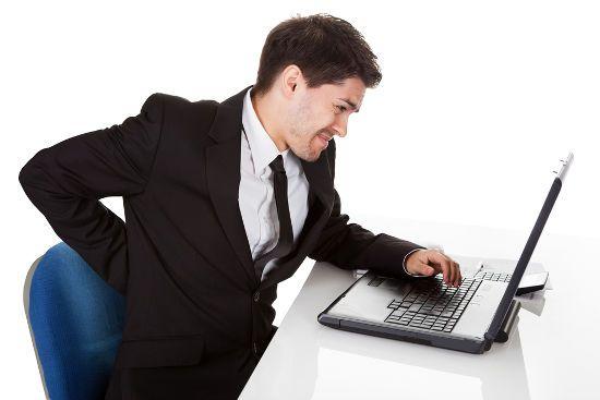 Боль в спине при работе за компьютером