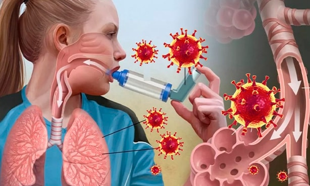 Астматик и проникновение вируса