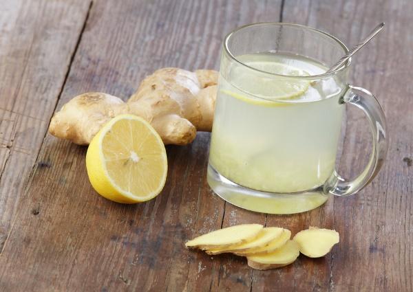 Вода с лимоном и имбирём