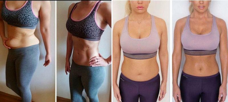 Результаты до и после сушки тела