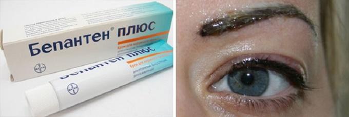 Аптечные препараты для ухода за перманентным макияжем бровей
